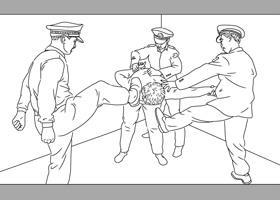 中共酷刑示意图:毒打