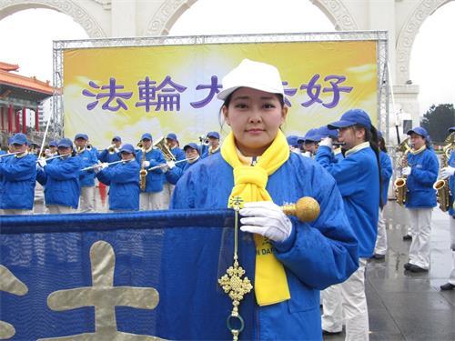 '图10:国立暨南大学历史系硕士杨惠琄怀着感恩之心恭祝师尊新年好,期许做好三件事。'