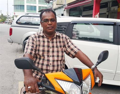 '图23:沙登新村印裔民众Balan先生。'