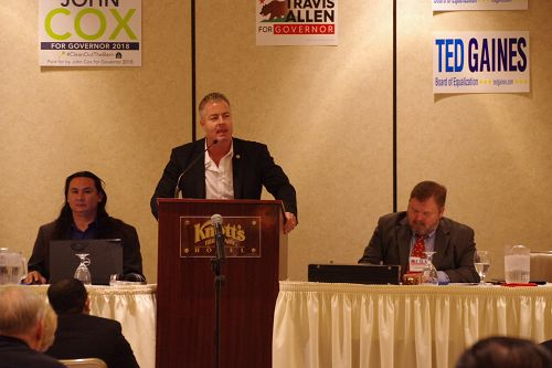 图3:加州共和党候州长选人杭亭顿海滩(Huntington Beach)选区州众议员特拉维斯‧阿伦(Travis Allen)。