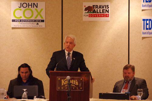 图4:加州共和党州长候选人、来自圣地亚哥的风险投资人约翰·考克斯(John Cox)。
