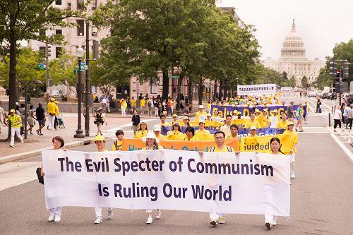 美国首都反迫害大游行 民众声援法轮功