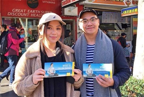 '图8:悉尼科技大学建筑系研究生的佩雷斯(JaninePerez)和男友。'