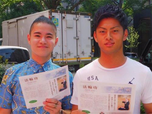 '图10:北野亮一先生(左)和金谷幸世间先生(右)'