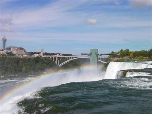 """'图1:被称为世界七大奇景之一的""""尼亚加拉瀑布(Niagara?Falls)""""'"""