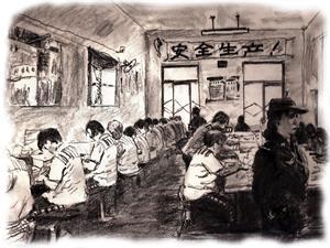 ''示意图:中共监狱中的奴工迫害''