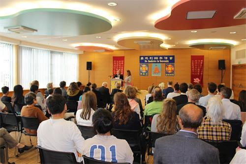 '图1:一年一度的奥地利法轮大法修炼心得交流会于二零一八年九月二日举行'