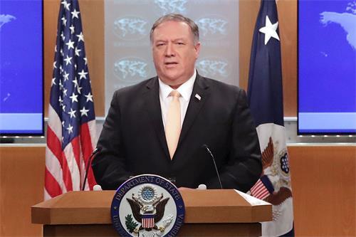 '图:美国国务卿迈克·蓬佩奥三月十三日公布国务院二零一八年年度人权报告'