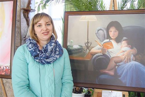 """'图7:五山城居民叶琳娜(Elena)分享:""""和导游一起看了这个展览后,我意识到我们必须活得更纯洁,高尚和善良,用明亮的眼睛看待一切。""""'"""