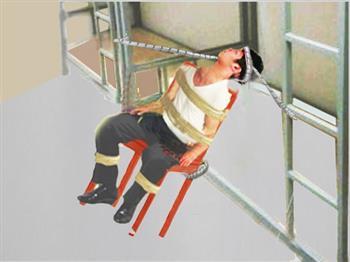 中共监狱酷刑示意图:捆绑
