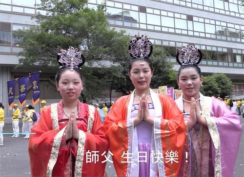 '图8:仙女队的雅然(左),仙姿(中)和法子(右)'