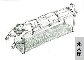 中共酷刑示意图:死人床