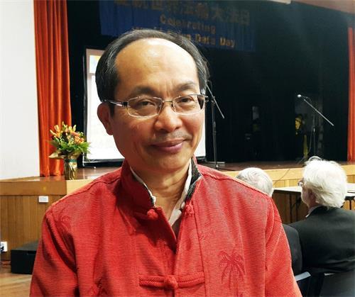 """'图3:悉尼科技大学(UTS)中国研究学者冯崇义博士表示:""""真、善、忍""""理念在澳洲这个自由国土是很有影响力的'"""