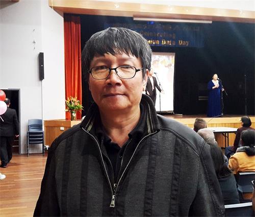 '图4:中国人权活动家潘晴先生表示:如果有需要我仍然会站出来维护法轮功学员的修炼权利和维护他们在这世界上传播文明的价值。'