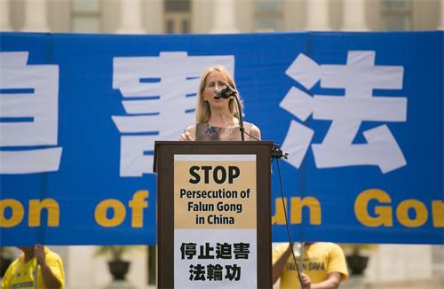 圖14:美國基督教自由組織( Christian Freedom International)主席溫蒂·萊特(Wendy Wright)