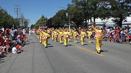 '图1~4:2019年7月1日,法轮功团体参加列治文国庆大游行。'