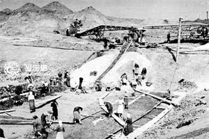 '古拉格集中营的劳动场面'