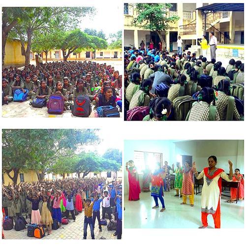 印度班加罗尔中学师生欢迎法轮功(组图)