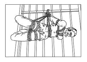 '中共酷刑演示图:约束衣'