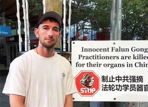 '图7:电气技师基努(Keanu)支持法轮功学员反迫害'
