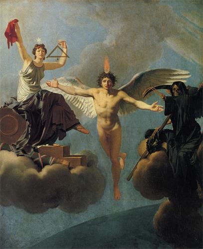 图例:油画《自由或死亡》(La Liberté ou la Mort),作者:雷尼欧(Jean-Baptiste Regnault),作于1793年-1795年。