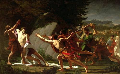 图例:《盖约•格拉古之死》(La Mort de Caius Gracchus),作者:托皮诺(François Topino-Lebrun),完成于1798年。