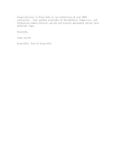 '圖8:勞拉·露西爾發來的祝賀郵件'
