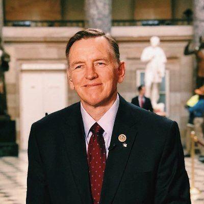 '圖16:法輪功反迫害二十一周年,亞利桑那州(Arizona)共和黨籍聯邦眾議員保羅·戈薩爾(Rep.