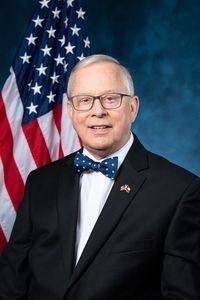 '圖32:法輪功反迫害二十一周年,德克薩斯州共和黨籍聯邦眾議員羅恩‧萊特(Rep.