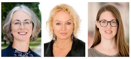 '图5:(从左至右)卡琳·穆勒(KarinMueller,黑森州议会副议长),玛蒂娜·费德迈尔(MartinaFeldmayer)和米莉昂·达尔克(MiriamDahlke)。'