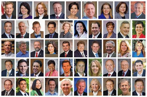 '图1:美国弗吉尼亚州48位议员联名致信国务卿蓬佩奥,要求美国国务院帮助制止中共对法轮功的迫害。'