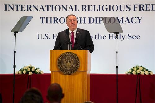 '图:美国国务卿蓬佩奥敦促罗马教廷勇敢面对中共'