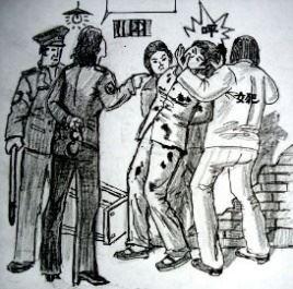 '酷刑:床板殴打多根电棍电击撞墙'