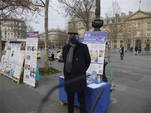 """'图6:巴黎人让-雅克(Jean-Jaque)说:""""中共政权最终会自行解体。""""'"""