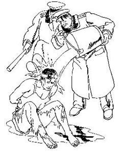 '中共酷刑示意图:浇凉水'