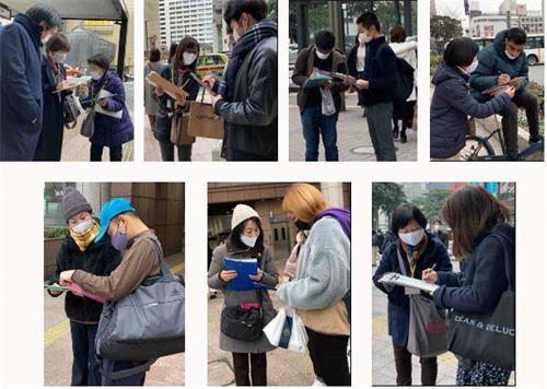 '图1:明白真相的日本民众在迫害元凶江泽民的举报书上签名'