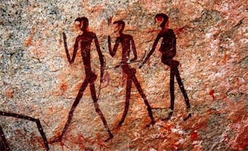 '图22:阿尔卑斯山岩石壁画'