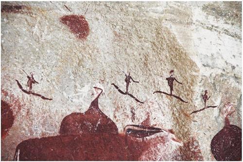 '图23:南非岩洞壁画'