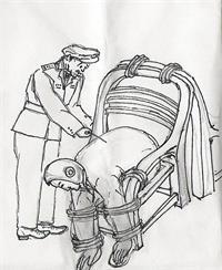中共酷刑示意图:束缚椅