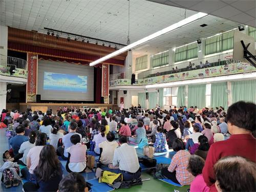 '图:二零二一年三月十四日,台湾中区一日学法交流活动在台中县太平国小举办。'