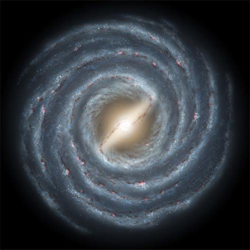 '银河系的艺术图(俯视图)(Imagecredit:@nasa.gov)'