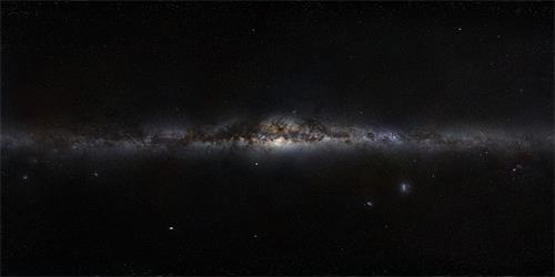 '望远镜拍摄的银河系全景图(侧面图)(ImageCredit:ESO/S.Brunier)'