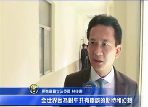 '图7:立法委员林俊宪观察,越来越多国家觉醒、认清中共,并祭出实际制裁。'