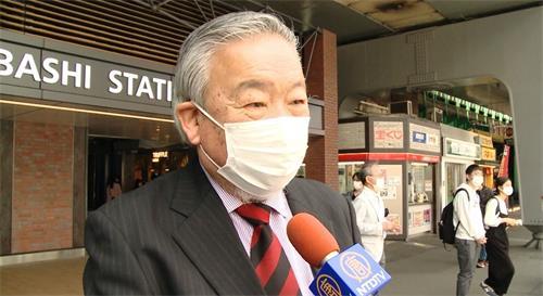 """'图7:一位日本先生表示:""""中共把没有罪的人关进监狱,这种事是绝对不允许的。""""'"""
