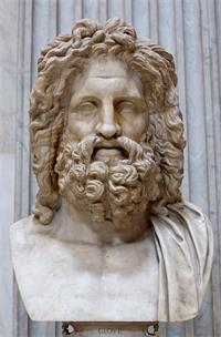 图:由教宗庇护六世(Pius PP. VI)出资,1775年出土于奥特里科利(Otricoli)的宙斯胸像。多个世纪以来,天主教会收藏了大量异教文物珍品,此胸像现存于梵蒂冈博物馆。