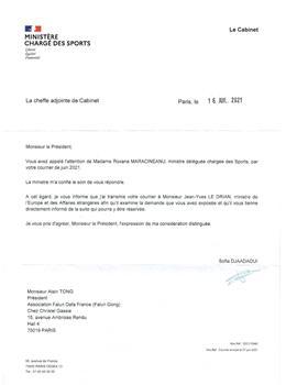 '图4:法国体育部的信件。'