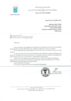 '图5:法国海外省马提尼克岛圣皮埃尔市(SaintPierre)市长的信件。'