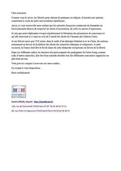 '图8:法国国会议员的来信。'